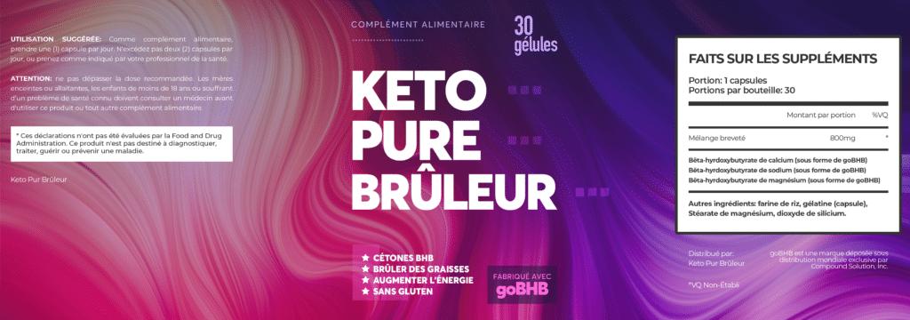 Keto Pure Brûleur : liste des ingrédients